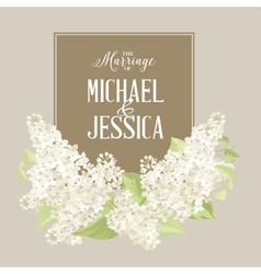 Marriage card vector