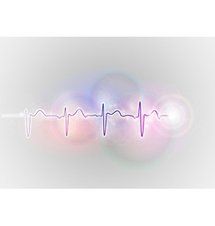 medical symbol ekg blue vector image