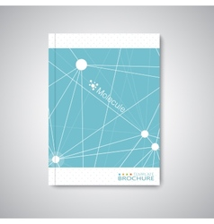 Modern abstract template layout for brochure vector