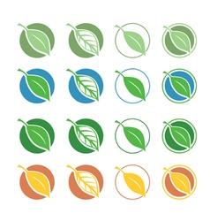 natural symbols with leaf vector image