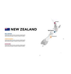 New zealand map infographic template slide vector