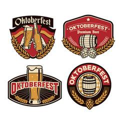 oktoberfest badge vector image