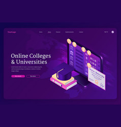 online colleges and universities banner vector image