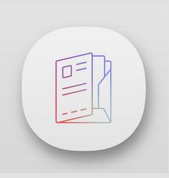 Paper case document folder app icon uiux user vector