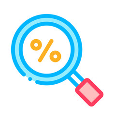 percent search signs icon outline vector image