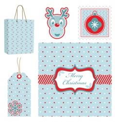 Polka dot Christmas set vector