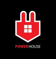 power house logo vector image