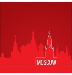 Russia moscow concept for web banner one line vector