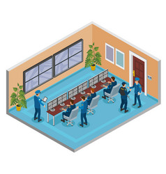 security systems isometric composition vector image