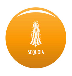 Sequoia leaf icon orange vector