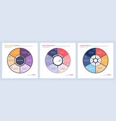 set infographic circle chart templates vector image
