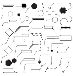 set of forty different pointer vector image