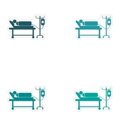 Set of stickers man on a drip white background vector