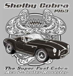 Shelby Cobra 1963 vector image