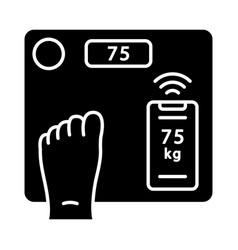 smart wireless body scales glyph icon vector image