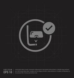 snorkeling icon - black creative background vector image