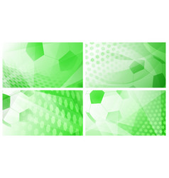 Soccer backgrounds in green colors vector
