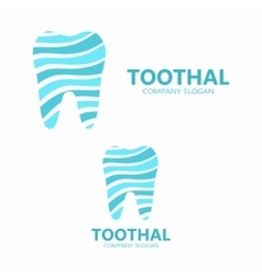 tooth logo design vector image