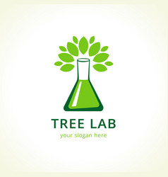 tree lab logo vector image
