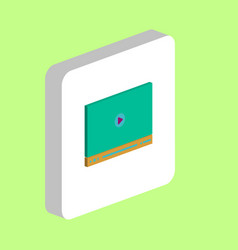video player computer symbol vector image