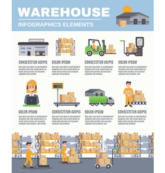 Warehouse Infographics Layout vector