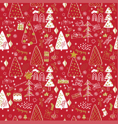 winter christmas forest creative background vector image
