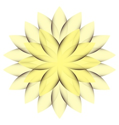 Yellow Wheel Flower vector