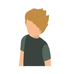 Young Man body complete vector
