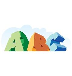 Alphabet made of stone single word ABC vector image