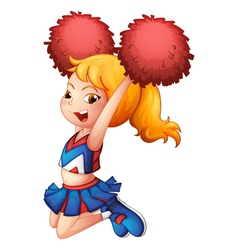 An energetic cheerleader vector image