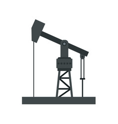oil industry equipment icon flat style vector image