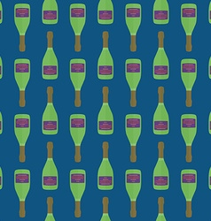 pop art champagne bottle seamless pattern vector image vector image