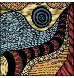 zentangl background vector image vector image