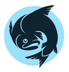 abstract fish sign vector image vector image