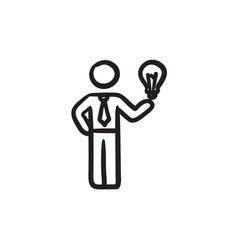 Business idea sketch icon vector