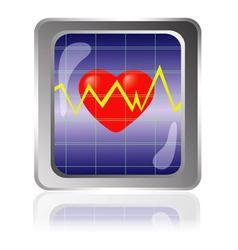 cardiogram icon vector image