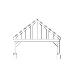 Carport for cars at home vector