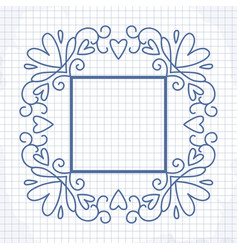cute frame with heart vector image vector image