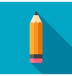 Flat Pencil Icon vector image vector image