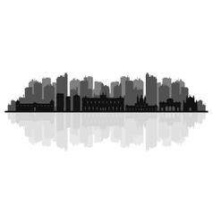 madrid skyline vector image vector image