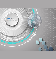 sphere on grey background vector image