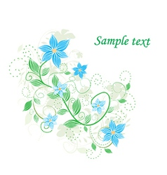 Abstract floral detailed background vector image vector image