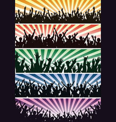 concert crowds vector image vector image