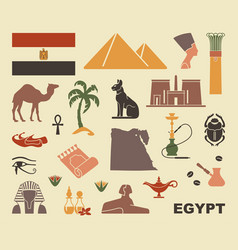 traditional symbols of egypt vector image vector image