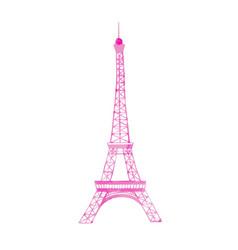 watercolor eiffel tower vector image