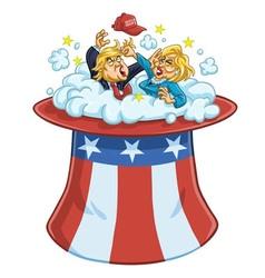 Donald Trump Versus Hillary Clinton vector image vector image
