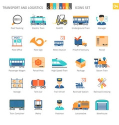 Transport colorful set 04 vector