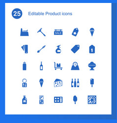 25 product icons vector