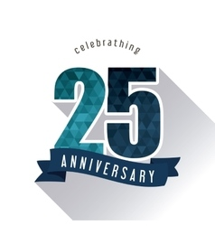 25 Year Celebrating Anniversary graphic vector