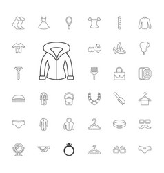 33 fashion icons vector